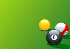 Pool. Billiards balls on green background vector illustration