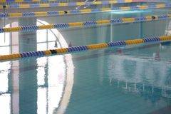 Pool. With focus on closest divider Stock Photo