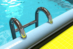 Pool. Water pool with water with an iron ladder Stock Image