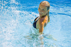 In pool royalty free stock photos