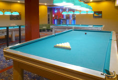 Pool. Interior pool club Stock Photos