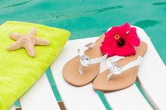 By The Pool Royalty Free Stock Images