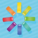 Pool Air Mats Colors Group Circle Stock Photos