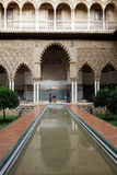 Pool in Alcazar Palace of Seville Royalty Free Stock Images
