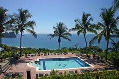Pool & OceaanMening, Costa Rica Royalty-vrije Stock Foto