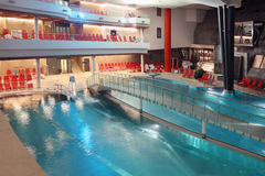 Pool in Aqua Dome hotel Stock Photos