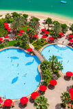 Pool area of Khalidiya Palace resort in Abu Dhabi, UAE Stock Photography
