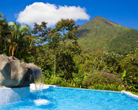 Pool at Arenal Volcano Royalty Free Stock Photo
