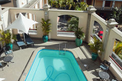 Pool on balcony. Port Louis, Mauritius Royalty Free Stock Images