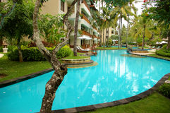 Pool in balinese resort Royalty Free Stock Photos