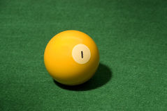 Pool ball 1 Royalty Free Stock Photography