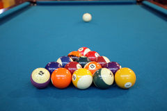 Pool ball. Ready to play a game stock images