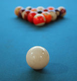 Pool ball. Ready to play a game stock image