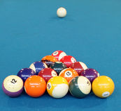 Pool ball. Ready to play a game stock photography
