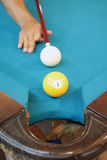 Pool ball. Ready to play a game royalty free stock photos