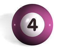 Pool ball. Isolated 3d pool ball number 4 Vector Illustration