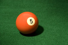 Pool ball 5 Royalty Free Stock Photo