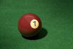 Pool ball 7 Stock Photo