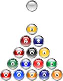 Pool Ball Buttons. These are pool ball buttons for graphic or web designs Vector Illustration
