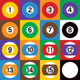 Pool Ball Checkerboard Stock Images