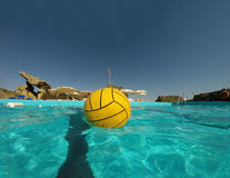 Pool and ball funny summer day Royalty Free Stock Image
