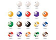 Pool Ball Icons Royalty Free Stock Image