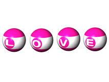 Pool ball love. Stock Images