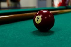 Pool ball 7 royalty free stock images