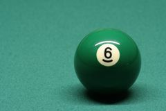 Pool ball number 06 Royalty Free Stock Photography