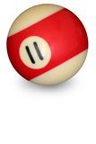 Pool ball number 11 Stock Image