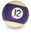 Pool ball number 12 Royalty Free Stock Photography