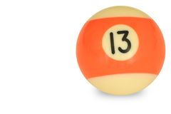 Pool ball number 13 Royalty Free Stock Image