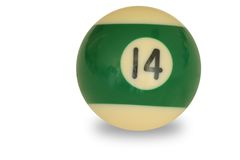 Pool ball number 14 Stock Image