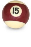 Pool ball number 15 Stock Photos
