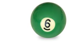 Pool ball number Stock Photos