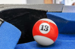 Pool ball number 13 Stock Photo
