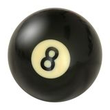 Pool Ball Number Eight Royalty Free Stock Photo
