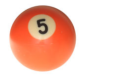 Pool ball number five Royalty Free Stock Photo