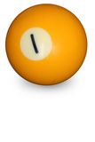 Pool ball number one royalty free stock photo