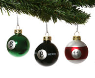 Pool Ball Ornaments Stock Image