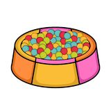 Pool of ball toys icon. Vector illustration design Royalty Free Illustration