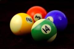 Pool Balls. Various Pool Balls Royalty Free Stock Photography