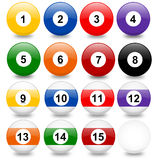 Pool balls. Illustration of pool balls. Pool game vector illustration