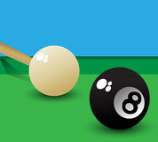 Pool balls. Pool game background, ball eight Royalty Free Stock Images