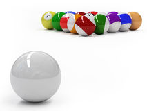 Pool balls Stock Image