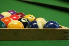 Pool balls. On green pool table Stock Image