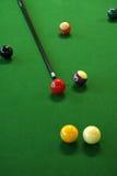 Pool balls. On green pool table Stock Photography