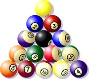 Pool Balls. Set in a triangle (vector Stock Images