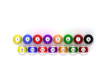 Pool balls. This is pool balls. Usable for catalogue or sports journals Royalty Free Stock Images