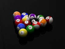 Pool balls. This is pool balls. Usable for catalogue or sports journals Royalty Free Stock Photo